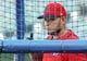 Aug 14, 2019; Kansas City, MO, USA; St. Louis Cardinals catcher Yadier Molina (4) during batting practice before the game against the Kansas City Royals at Kauffman Stadium. Mandatory Credit: Jay Biggerstaff-USA TODAY Sports