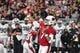 Aug 15, 2019; Glendale, AZ, USA; Arizona Cardinals quarterback Brett Hundley (7) throws against the Oakland Raiders in the first half during a preseason game at State Farm Stadium. Mandatory Credit: Matt Kartozian-USA TODAY Sports