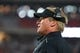 Aug 15, 2019; Glendale, AZ, USA; Oakland Raiders head coach Jon Gruden during a preseason game against the Arizona Cardinals at State Farm Stadium. Mandatory Credit: Mark J. Rebilas-USA TODAY Sports