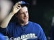 Aug 17, 2019; Washington, DC, USA; Milwaukee Brewers manager Craig Counsell (30) looks on from the dugout before a game against the Washington Nationals at Nationals Park. Mandatory Credit: Brad Mills-USA TODAY Sports