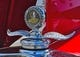 Aug 18, 2019; Kansas City, MO, USA; A general view of a hood ornament on a 1930 Chevrolet, at a classic car show at Kauffman Stadium. Mandatory Credit: Peter G. Aiken/USA TODAY Sports