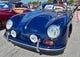 Aug 18, 2019; Kansas City, MO, USA; A general view of a 1955 Porsche, at a classic car show at Kauffman Stadium. Mandatory Credit: Peter G. Aiken/USA TODAY Sports