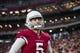 Aug 15, 2019; Glendale, AZ, USA; Arizona Cardinals kicker Zane Gonzalez (5) against the Oakland Raiders during a preseason game at State Farm Stadium. Mandatory Credit: Mark J. Rebilas-USA TODAY Sports