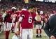 Aug 15, 2019; Glendale, AZ, USA; Arizona Cardinals quarterback Charles Kanoff (6) reacts against the Oakland Raiders during a preseason game at State Farm Stadium. Mandatory Credit: Mark J. Rebilas-USA TODAY Sports