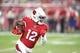 Aug 15, 2019; Glendale, AZ, USA; Arizona Cardinals wide receiver Pharoh Cooper (12) against the Oakland Raiders during a preseason game at State Farm Stadium. Mandatory Credit: Mark J. Rebilas-USA TODAY Sports