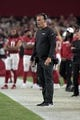 Aug 15, 2019; Glendale, AZ, USA; Arizona Cardinals special teams coordinator Jeff Rodgers during an NFL football game against the Oakland Raiders. The Raiders defeated the Cardinals 33-26. Mandatory Credit: Kirby Lee-USA TODAY Sports