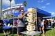 Aug 24, 2019; Orlando, FL, USA; Florida Gators fans play a game of Jenga while tailgating prior to the game between the Miami Hurricanes and the Florida Gators at Camping World Stadium. Mandatory Credit: Jasen Vinlove-USA TODAY Sports