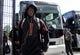 Aug 24, 2019; Orlando, FL, USA; Miami Hurricanes quarterback N'Kosi Perry (5) arrives prior to the game against the Florida Gators at Camping World Stadium. Mandatory Credit: Jasen Vinlove-USA TODAY Sports