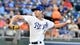 Aug 30, 2019; Kansas City, MO, USA; Kansas City Royals starting pitcher Eric Skoglund (53) delivers a pitch in the first inning against the Baltimore Orioles at Kauffman Stadium. Mandatory Credit: Denny Medley-USA TODAY Sports