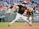 Aug 30, 2019; Kansas City, MO, USA; Baltimore Orioles starting pitcher John Means (67) delivers a pitch in the first inning against the Kansas City Royals at Kauffman Stadium. Mandatory Credit: Denny Medley-USA TODAY Sports
