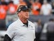 Sep 9, 2019; Oakland, CA, USA; Oakland Raiders head coach Jon Gruden on the the field before the game against the Denver Broncos at Oakland Coliseum. Mandatory Credit: Kelley L Cox-USA TODAY Sports