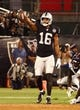 Sep 9, 2019; Oakland, CA, USA; Oakland Raiders wide receiver Tyrell Williams (16) celebrates after a play against the Denver Broncos during the first quarter at Oakland Coliseum. Mandatory Credit: Kelley L Cox-USA TODAY Sports