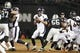 Sep 9, 2019; Oakland, CA, USA;  Denver Broncos quarterback Joe Flacco (5) throws the ball in the first half against the Oakland Raiders at Oakland-Alameda County Coliseum. Mandatory Credit: Kirby Lee-USA TODAY Sports