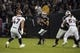 Sep 9, 2019; Oakland, CA, USA; Oakland Raiders quarterback Derek Carr (4) throws the ball in the second quarter against the Denver Broncos at Oakland-Alameda County Coliseum. Mandatory Credit: Kirby Lee-USA TODAY Sports