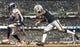 September 9, 2019; Oakland, CA, USA; Denver Broncos wide receiver Emmanuel Sanders (10) scores a touchdown against Oakland Raiders cornerback Trayvon Mullen (27) during the third quarter at Oakland Coliseum. Mandatory Credit: Kyle Terada-USA TODAY Sports