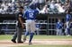Sep 12, 2019; Chicago, IL, USA; Kansas City Royals right fielder Jorge Soler (12) celebrates as he crosses home plate after hitting a solo home run against the Chicago White Sox during the first inning at Guaranteed Rate Field. Mandatory Credit: Kamil Krzaczynski-USA TODAY Sports