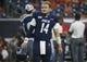 Sep 14, 2019; Houston, TX, USA; Rice Owls quarterback Tom Stewart (14) walks on the field before a game against the Texas Longhorns at NRG Stadium. Mandatory Credit: Troy Taormina-USA TODAY Sports