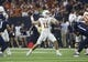 Sep 14, 2019; Houston, TX, USA; Texas Longhorns quarterback Sam Ehlinger (11) attempts a pass during the first quarter against the Rice Owls at NRG Stadium. Mandatory Credit: Troy Taormina-USA TODAY Sports