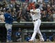 Sep 22, 2019; Minneapolis, MN, USA;  Minnesota Twins designated hitter Nelson Cruz (23) crosses home plater after hitting his 400th career home run during the fourth inning against the Kansas City Royals at Target Field. Mandatory Credit: Marilyn Indahl-USA TODAY Sports