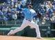 Sep 15, 2019; Kansas City, MO, USA; Kansas City Royals starting pitcher Jake Junis  (65) pitches against the Houston Astros at Kauffman Stadium. Mandatory Credit: Jay Biggerstaff-USA TODAY Sports