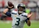 Sep 29, 2019; Glendale, AZ, USA; Seattle Seahawks quarterback Russell Wilson (3) warms up prior to facing the Arizona Cardinals at State Farm Stadium. Mandatory Credit: Joe Camporeale-USA TODAY Sports