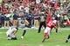Sep 29, 2019; Glendale, AZ, USA; Seattle Seahawks kicker Jason Myers (5) kicks a field goal in the first half against the Arizona Cardinals at State Farm Stadium. Mandatory Credit: Matt Kartozian-USA TODAY Sports