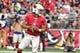 Sep 29, 2019; Glendale, AZ, USA; Arizona Cardinals quarterback Kyler Murray (1) drops back to pass in the first half against the Seattle Seahawks at State Farm Stadium. Mandatory Credit: Matt Kartozian-USA TODAY Sports