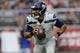 Sep 29, 2019; Glendale, AZ, USA; Seattle Seahawks quarterback Russell Wilson (3) rolls out against the Arizona Cardinals during the second half at State Farm Stadium. Mandatory Credit: Joe Camporeale-USA TODAY Sports