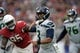 Sep 29, 2019; Glendale, AZ, USA; Seattle Seahawks quarterback Russell Wilson (3) passes the ball against the Arizona Cardinals during the second half at State Farm Stadium. Mandatory Credit: Joe Camporeale-USA TODAY Sports