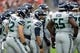 Sep 29, 2019; Glendale, AZ, USA; Seattle Seahawks quarterback Russell Wilson (3) huddles teammates against the Arizona Cardinals during the first half at State Farm Stadium. Mandatory Credit: Joe Camporeale-USA TODAY Sports
