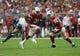 Sep 29, 2019; Glendale, AZ, USA; Arizona Cardinals running back David Johnson (31) runs with the ball against the Seattle Seahawks during the first half at State Farm Stadium. Mandatory Credit: Joe Camporeale-USA TODAY Sports