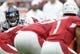 Sep 29, 2019; Glendale, AZ, USA; Seattle Seahawks linebacker Mychal Kendricks (56) looks down Arizona Cardinals quarterback Kyler Murray (1) during the first half at State Farm Stadium. Mandatory Credit: Joe Camporeale-USA TODAY Sports