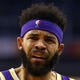 Oct 24, 2018; Phoenix, AZ, USA; Los Angeles Lakers center JaVale McGee (7) against the Phoenix Suns at Talking Stick Resort Arena. Mandatory Credit: Mark J. Rebilas-USA TODAY SportsNBAHeadshots