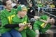 Oct 5, 2019; Eugene, OR, USA; Young Oregon Ducks get silly in the stands before a game against the California Golden Bears at Autzen Stadium. Mandatory Credit: Troy Wayrynen-USA TODAY Sports