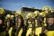 Oct 5, 2019; Eugene, OR, USA; The Oregon Ducks football team make their way to the locker room after warming up before a game agains the California Golden Bears at Autzen Stadium. Mandatory Credit: Troy Wayrynen-USA TODAY Sports
