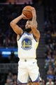 October 5, 2019; San Francisco, CA, USA; Golden State Warriors guard Ky Bowman (12) shoots the basketball against the Los Angeles Lakers during the first quarter at Chase Center. Mandatory Credit: Kyle Terada-USA TODAY Sports