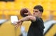 Oct 6, 2019; Pittsburgh, PA, USA; Pittsburgh Steelers quarterback Mason Rudolph (2) warms up before playimng against the Baltimore Ravens at Heinz Field. Mandatory Credit: Philip G. Pavely-USA TODAY Sports