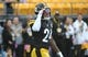 Oct 6, 2019; Pittsburgh, PA, USA; Pittsburgh Steelers running back Benny Snell Jr. acknowledges the fans before playing the Baltimore Ravens at Heinz Field. Mandatory Credit: Philip G. Pavely-USA TODAY Sports