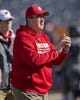 Oct 19, 2019; Champaign, IL, USA; Wisconsin Badgers head coach Paul Chryst pumps his team up prior to the first half against the Illinois Fighting Illini at Memorial Stadium. Mandatory Credit: Patrick Gorski-USA TODAY Sports