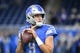 Oct 20, 2019; Detroit, MI, USA; Detroit Lions quarterback Matthew Stafford (9) before the game against the Minnesota Vikings at Ford Field. Mandatory Credit: Tim Fuller-USA TODAY Sports