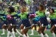Oct 20, 2019; Seattle, WA, USA; Seattle Seahawks cheerleaders dance in the first half against the Baltimore Ravens at CenturyLink Field. Mandatory Credit: Kirby Lee-USA TODAY Sports