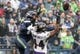 Oct 20, 2019; Seattle, WA, USA; Seattle Seahawks wide receiver D.K. Metcalf (14) is defended by Baltimore Ravens cornerback Marlon Humphrey (44) in the second qaurter at CenturyLink Field. Mandatory Credit: Kirby Lee-USA TODAY Sports