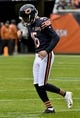 Oct 20, 2019; Chicago, IL, USA; Chicago Bears kicker Eddy Pineiro (15) pumps his fists after scoring a field goal against the New Orleans Saints during the first half at Soldier Field. Mandatory Credit: Matt Marton-USA TODAY Sports