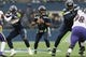 Oct 20, 2019; Seattle, WA, USA; Seattle Seahawks quarterback Russell Wilson (3) during the first half against the Baltimore Ravens at CenturyLink Field. Baltimore defeated Seattle 30-16. Mandatory Credit: Steven Bisig-USA TODAY Sports
