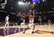 Oct 16, 2019; Los Angeles, CA, USA; Los Angeles Lakers guard Avery Bradley (11) and Golden State Warriors forward Alfonzo McKinnie (28) battle for the ball  in the first half at Staples Center. The Lakers defeated the Warriors 126-93. Mandatory Credit: Kirby Lee-USA TODAY Sports