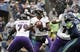 Oct 20, 2019; Seattle, WA, USA;  Baltimore Ravens quarterback Lamar Jackson (8) throws a pass in the second quarter against the Seattle Seahawks  at CenturyLink Field. The Ravens defeated the Seahawks 30-16.  Mandatory Credit: Kirby Lee-USA TODAY Sports