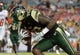 Sep 5, 2015; Tampa, FL, USA; South Florida Bulls D'Ernest Johnson (32) scores a touchwdown  during the  half against the Florida A & M Rattlers at Raymond James Stadium. Mandatory Credit: Jonathan Dyer-USA TODAY Sports