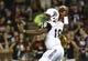 Sep 5, 2015; Cincinnati, OH, USA; Alabama A&M Bulldogs quarterback De'Angelo Ballard (18) looks to pass in the first half against the Cincinnati Bearcats at Nippert Stadium. Mandatory Credit: Aaron Doster-USA TODAY Sports