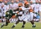 Sep 5, 2015; Tampa, FL, USA; Florida A & M Rattlers running back Devondrick Nealy (1) runs with the ball in the second half against the South Florida Bulls at Raymond James Stadium. Mandatory Credit: Jonathan Dyer-USA TODAY Sports