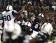 Sep 5, 2015; Cincinnati, OH, USA; Cincinnati Bearcats quarterback Hayden Moore (8) throws a pass in the second half against the Alabama A&M Bulldogs at Nippert Stadium. The Bearcats won 52-10. Mandatory Credit: Aaron Doster-USA TODAY Sports